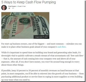 5 Ways To Keep Cash Flow Pumping by Brad Sugars