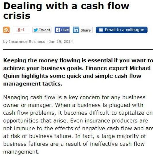 Dealing With A Cash Flow Crisis