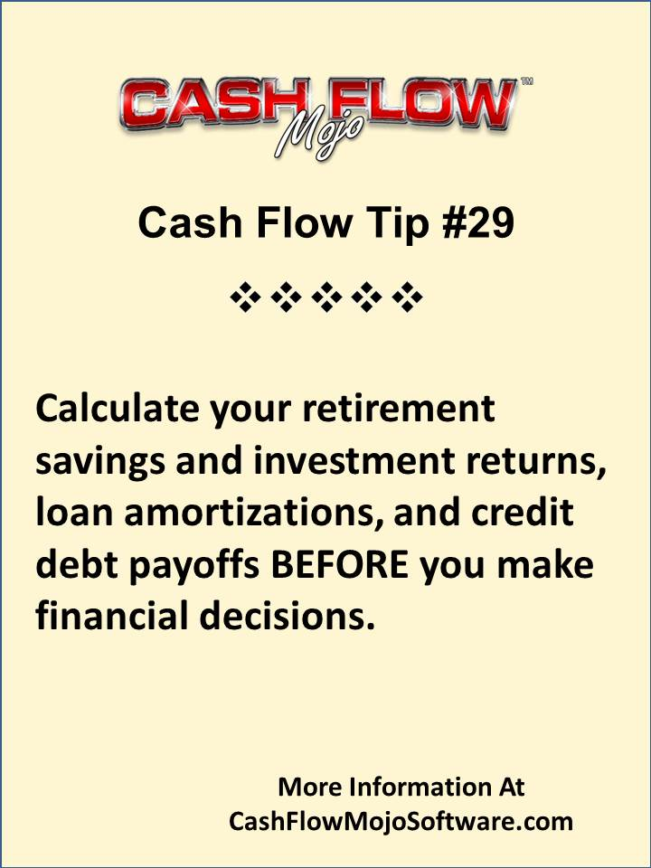 cash flow management tips for retirement savings and investing